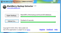 BlackBerry Backup Extractor 2.0.4.0 screenshot. Click to enlarge!