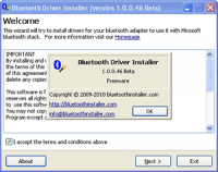 Bluetooth Driver Installer 1.0.1.112 Beta screenshot. Click to enlarge!