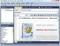 BulkMailer Professional 7.6.0 screenshot. Click to enlarge!