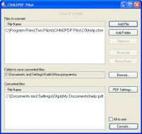 CHM2PDF Pilot 2.22 screenshot. Click to enlarge!