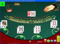 CVBasic Blackjack 1.0 screenshot. Click to enlarge!