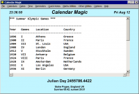 Calendar Magic 19.1 screenshot. Click to enlarge!