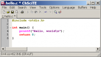 ChScite 1.55 screenshot. Click to enlarge!