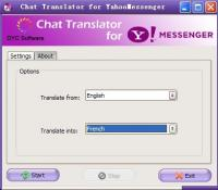 Chat Translator for Yahoo Messenger 4.2.1 screenshot. Click to enlarge!