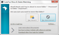 CodeTwo Move & Delete Watchdog 1.1.1.9 screenshot. Click to enlarge!