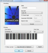 ConnectCode Free Barcode Font 5.0 screenshot. Click to enlarge!