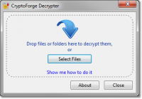 CryptoForge Decrypter 5.2.1 screenshot. Click to enlarge!