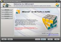 DBConvert for FoxPro & MySQL 2.1.0 screenshot. Click to enlarge!