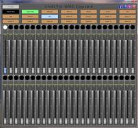 DMX Console 1.1.0 screenshot. Click to enlarge!