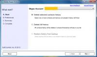 Delete Skype History Standard Edition 2.1.6 screenshot. Click to enlarge!