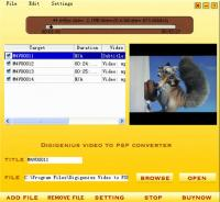 DigiGenius Video to PSP Converter 3.6 screenshot. Click to enlarge!