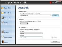 Digital Secure Disk 2011 screenshot. Click to enlarge!