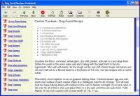 Dog Food Recipes Cookbook 1.1 screenshot. Click to enlarge!