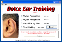 Dolce Ear Training 1.9.6 screenshot. Click to enlarge!