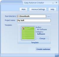 Easy Autorun Creator 2.6 screenshot. Click to enlarge!