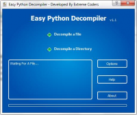 Easy Python Decompiler 1.3.1a screenshot. Click to enlarge!