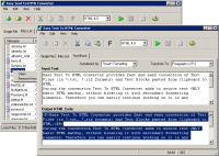 Easy Text To HTML Converter 3.0.0 screenshot. Click to enlarge!