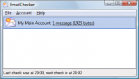 EmailChecker 1.17 screenshot. Click to enlarge!