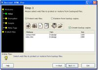 Encrypt HTML Pro 3.0 screenshot. Click to enlarge!