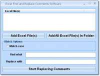 Excel Find and Replace Comments Software 7.0 screenshot. Click to enlarge!