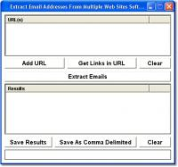 Extract Email Addresses From Multiple Web Sites Software 7.0 screenshot. Click to enlarge!