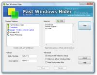 Fast Windows Hider 5.3.2 screenshot. Click to enlarge!