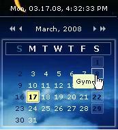 Flash Calendar 1.02 screenshot. Click to enlarge!
