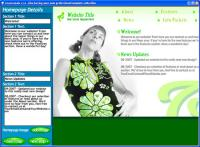 FlashWebKit Flash Website Builder 2.1 screenshot. Click to enlarge!