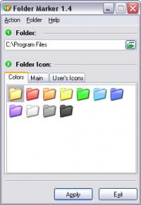 Folder Marker - Changes Folder Icons 1.4 screenshot. Click to enlarge!