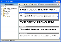 FontsOnCD 0.9b screenshot. Click to enlarge!