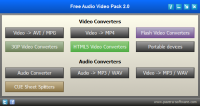 Free Audio Video Pack 2.15 screenshot. Click to enlarge!