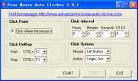 Free Mouse Auto Clicker 3.8.5 screenshot. Click to enlarge!