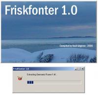 Friskfonter 1 screenshot. Click to enlarge!