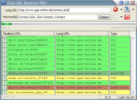 GSA URL Redirect PRO 1.72 screenshot. Click to enlarge!
