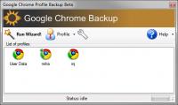 Google Chrome Backup 1.8.0.141 screenshot. Click to enlarge!