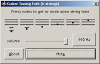 Guitar Tuning Fork 2006.07 screenshot. Click to enlarge!