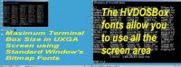 HVDOSBox - Windows Terminal Fonts 1.02 screenshot. Click to enlarge!