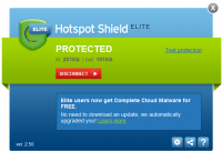 Hotspot Shield Elite 3.20 screenshot. Click to enlarge!