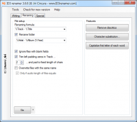 ID3 renamer 7.2.9 screenshot. Click to enlarge!