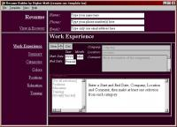 Interactive Resume Builder 2003.6 screenshot. Click to enlarge!