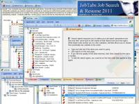 JobTabs Job Search and Resume 2011 5.0.0.1626 screenshot. Click to enlarge!