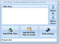 Join (Merge, Combine) Multiple HTML Files Into One Software 7.0 screenshot. Click to enlarge!