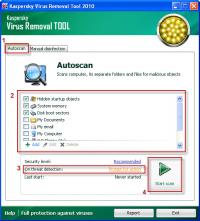 Kaspersky Virus Removal Tool 15.0.19.0 (1.07.2017 18:49) screenshot. Click to enlarge!