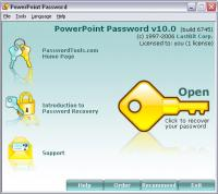 PowerPoint Password 17.5.9517 screenshot. Click to enlarge!