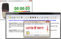 Listen N Write 1.17.0.4 screenshot. Click to enlarge!