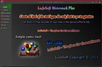 LuJoSoft Watermark Plus 1.0.0.9 screenshot. Click to enlarge!