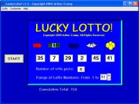 Lucky Lotto 2.0 screenshot. Click to enlarge!
