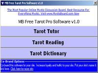 MB Tarot Pro Software 2.00 screenshot. Click to enlarge!
