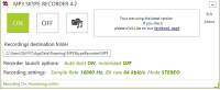 MP3 Skype Recorder 4.33 screenshot. Click to enlarge!