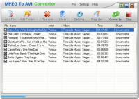 MPEG To AVI Converter 1.00 screenshot. Click to enlarge!